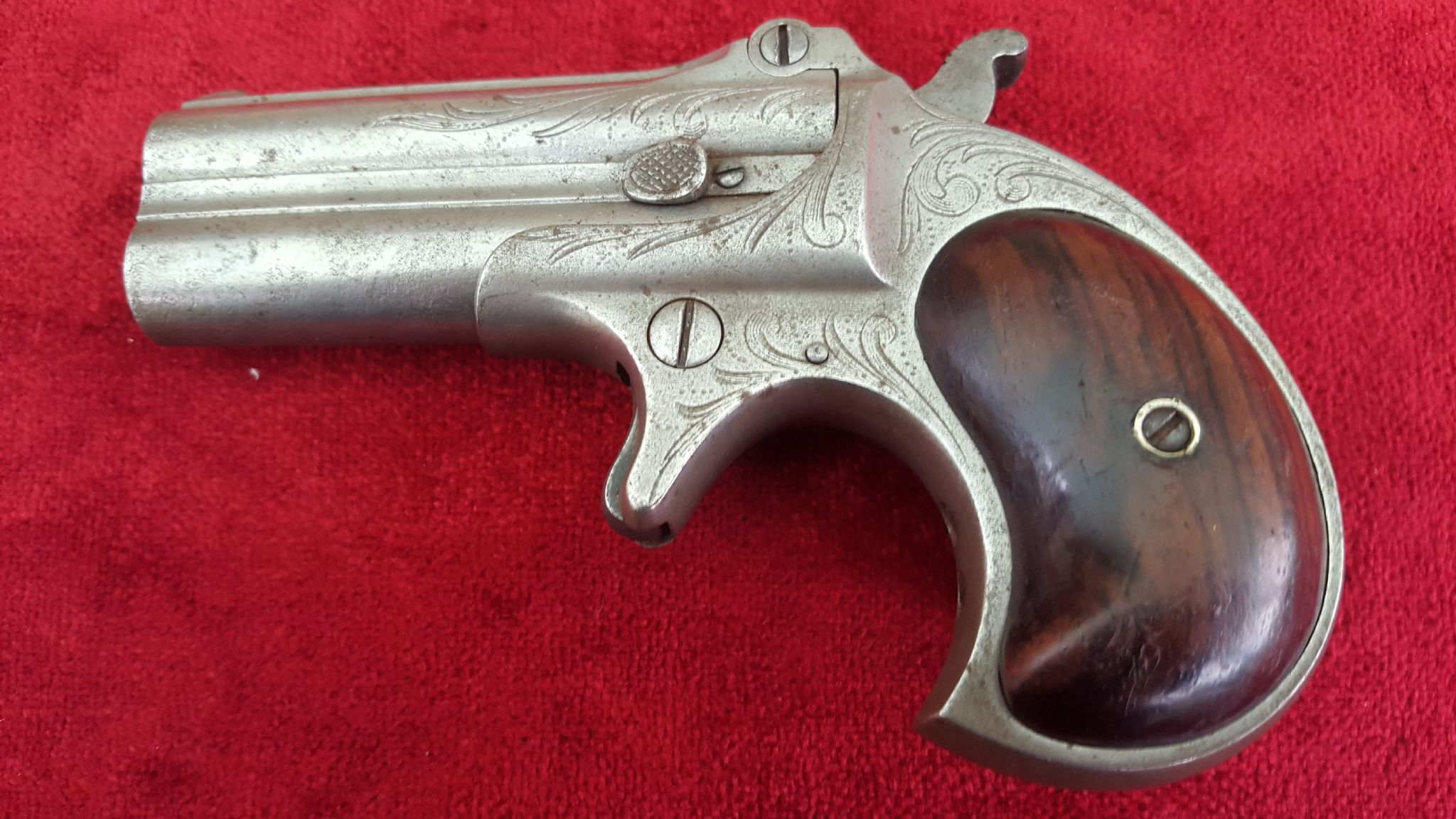 X X X SOLD X X X A good antique Remington double barrelled Gambler s